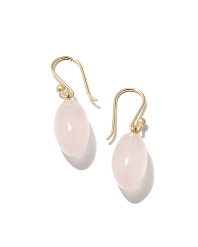 Rose Quartz Berry Earrings