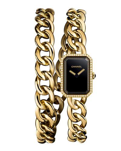 PREMIÈRE 18K Yellow Gold Chain Wrap Watch