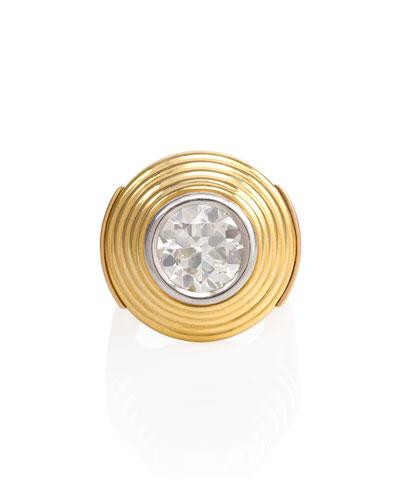 Estate Retro Stepped Concentric Diamond Ring
