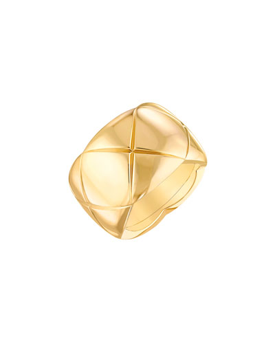 COCO CRUSH Ring in 18K Yellow Gold, Large Version