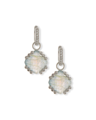 Labradorite & Blue Topaz Earring Charms with Diamonds