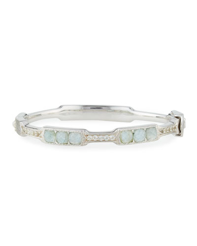 Cushion Labradorite & Quartz Moroccan Bangle