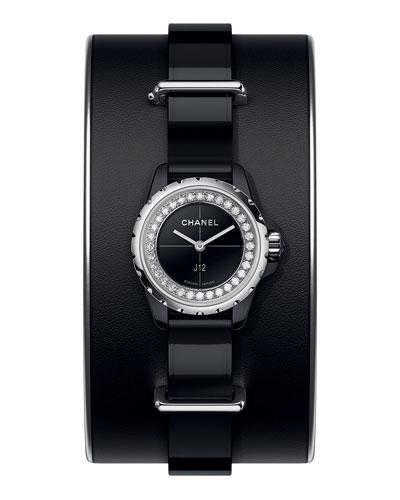 J12 XS Black Small Cuff Watch