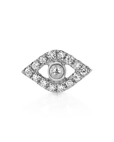 14K Diamond Evil Eye Stud Earrings