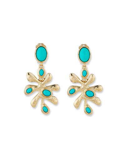 Sea Tangle Cabochon Earrings