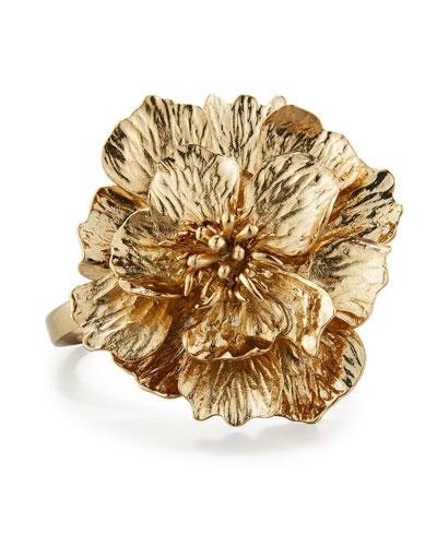 Bold 3D Flower Bracelet