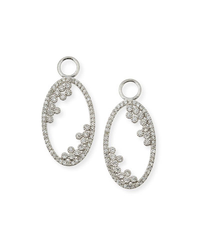 Provence 18K Open Oval Earring Charms with Diamonds