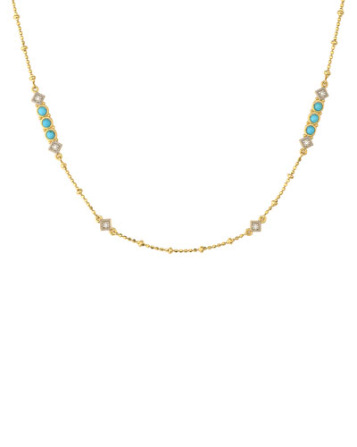 Lisse Diamond & Turquoise Chain Necklace