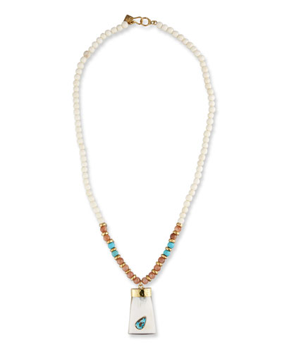 Maono Beaded Pendant Necklace, 36