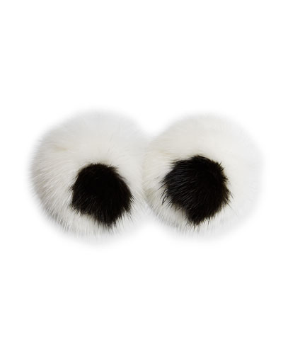 ANYA HINDMARCH Eyes Mink Sticker For Handbag, White