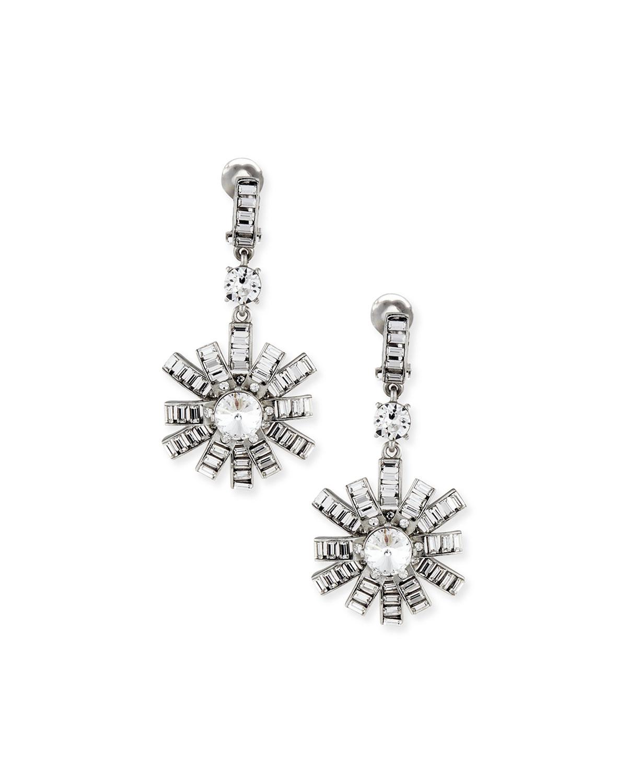 Modern Baguette Crystal Earrings