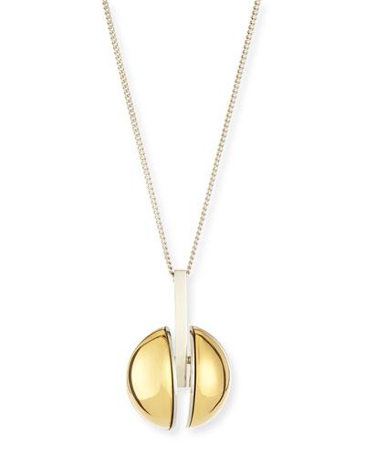 Ellie Two-Tone Golden Pendant Necklace, 33
