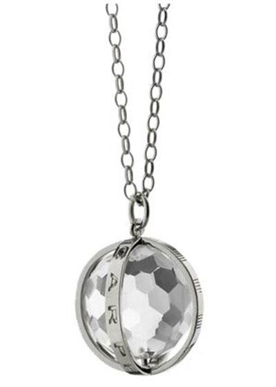 Extra Large Silver Carpe Diem Pendant Necklace, 30