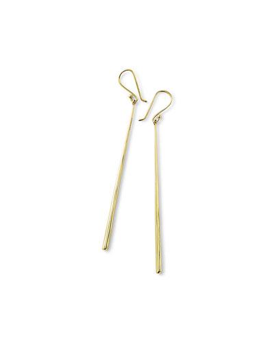 18k Glamazon Thin Elongated Earrings