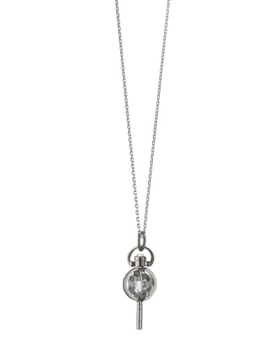 Mini Silver Carpe Diem Pendant Necklace, 17