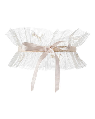 Ruffle Lace Choker Collar, Light Pink