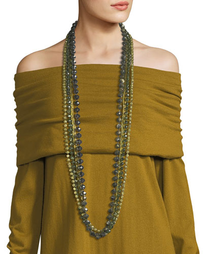 Long Ombre Beaded Necklace