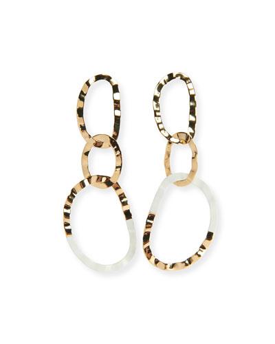 Hammered Resin Link Drop Earrings