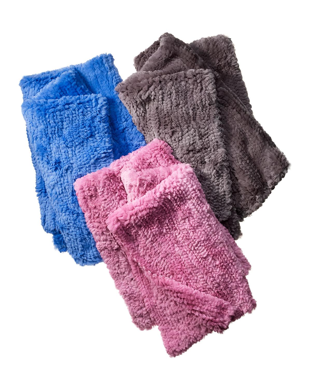 Rabbit Fur Throw Blanket
