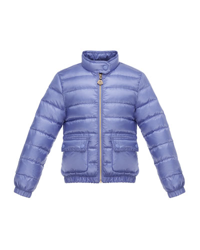 Lans Flap-Pocket Lightweight Down Puffer Jacket, Size 2-6