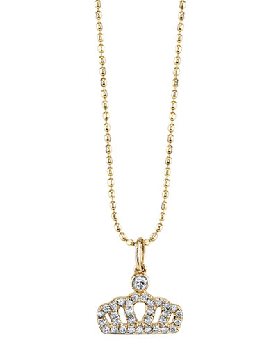 Diamond Crown Pendant Necklace