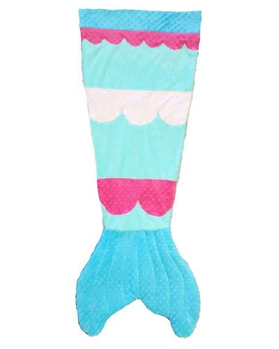Kids' Plush Mermaid Tail Blanket, Multicolor