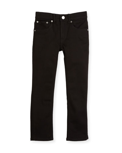 Skinny Stretch Denim Jeans, Black, Size 4-14