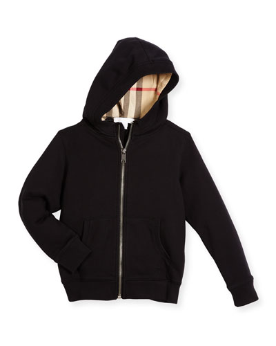 Pearcy Hooded Jersey Sweatshirt, Black, Size 4-14