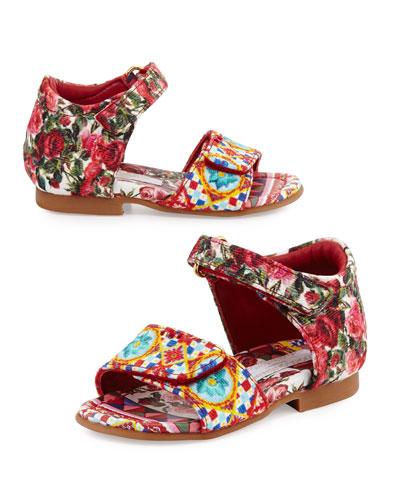 Grip-Strap Mambo Sandal, Multicolor, Infant/Toddler