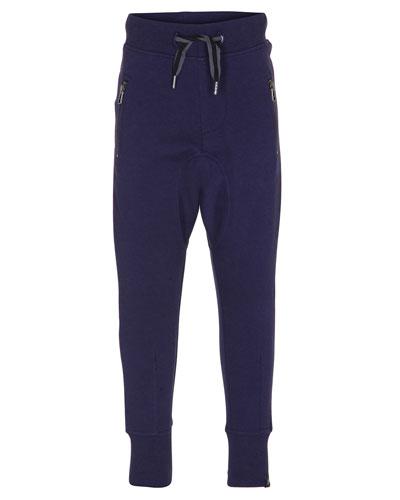 Ashton Zip-Pocket Track Pants, Size 4-12