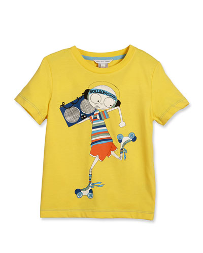 Essential Mister Marc Jersey Tee, White, Size 4-5