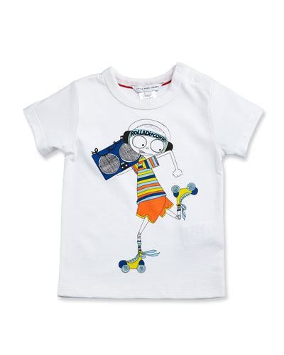 Essential Mister Marc Jersey Tee, White, Size 3-12 Months