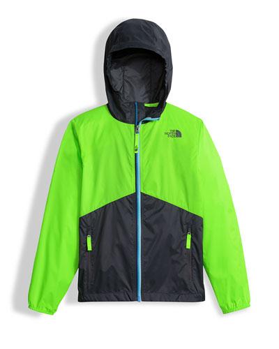 Flurry Wind Hooded Jacket, Green, Size XXS-L