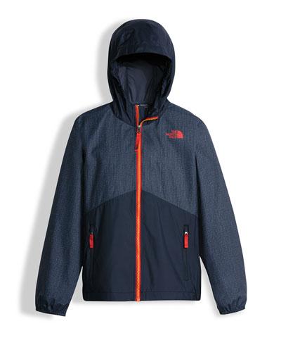 Flurry Wind Hooded Jacket, Blue, Size XXS-L