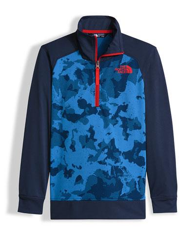 Kickin' It Camo Pullover Jacket, Blue, Size XXS-L