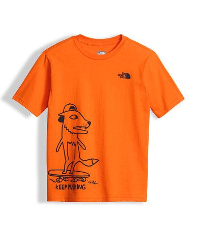 Keep Pushing Jersey Tee, Orange, Size XXS-L