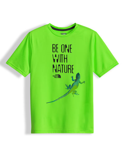 Be One with Nature Reaxion Amp Jersey Tee, Green, Size XXS-L
