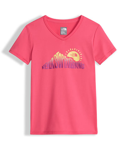 Never Stop Exploring Reaxion Amp Jersey Tee, Pink, Size XXS-L