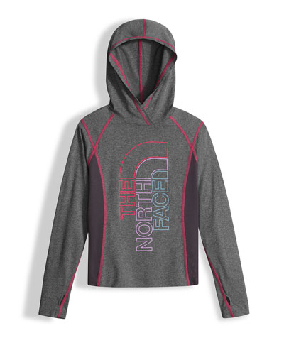 Reactor Hooded Jersey Tee, Gray, Size XXS-L