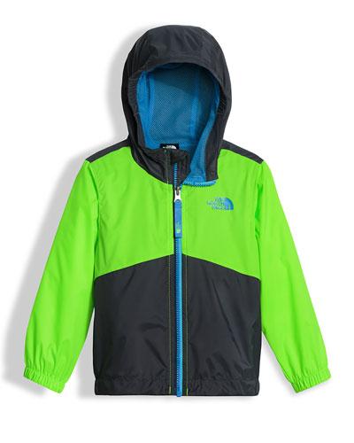 Flurry Wind Hooded Jacket, Green, Size 2-4T