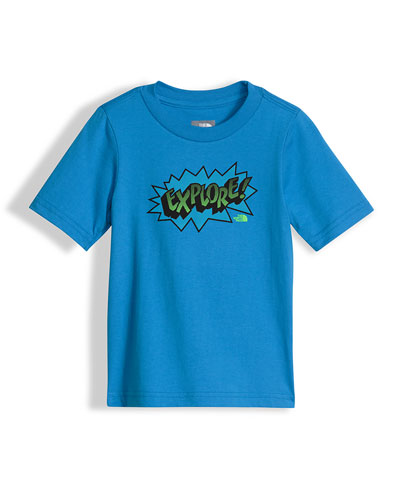 Explore Graphic Jersey Tee, Blue, Size 2-4T