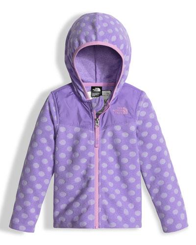 Lottie Dottie Hooded Polka-Dot Jacket, Purple, Size 2-4T