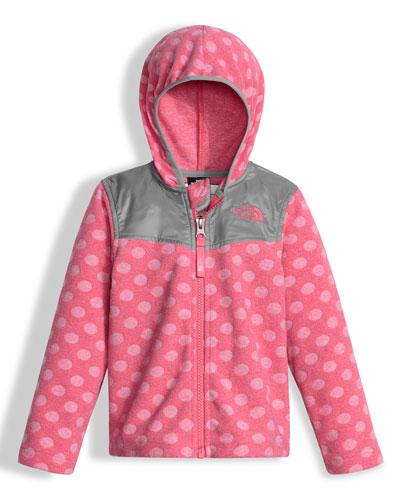 Lottie Dottie Hooded Polka-Dot Jacket, Pink, Size 2-4T