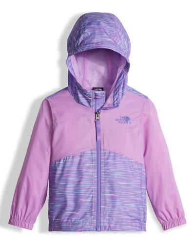 Flurry Wind Hooded Jacket, Purple, Size 2-4T