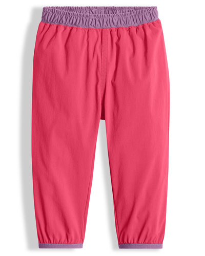 Colorblock Faille Hike Pants, Pink, Size 2-4T