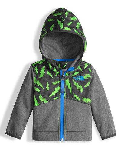 Kickin' It Hooded Fleece Jacket, Blue, Size 3-24 Months