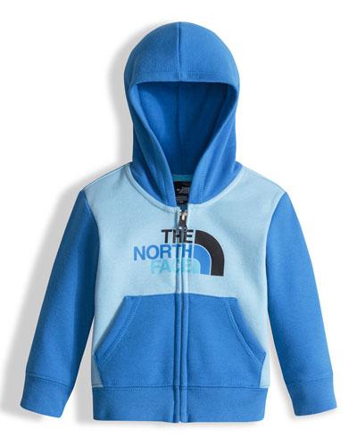 Hooded Fleece Colorblock Logo-Wear Sweatshirt, Blue, Size 3-24 Months
