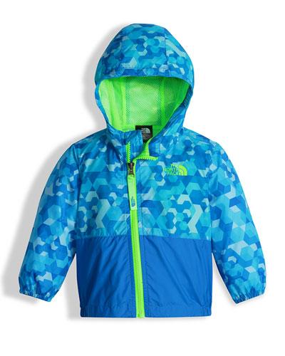 Flurry Wind Hooded Jacket, Blue, Size 3-24 Months
