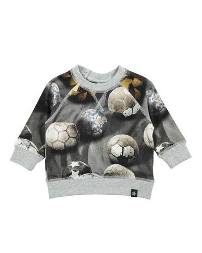 Elmo Soccer Ball Pullover Sweatshirt, Gray, Size 12-24 Months