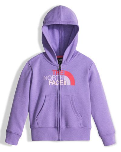 Hooded Fleece Logo-Wear Sweatshirt, Purple, Size 2-4T